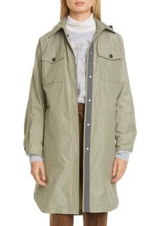 Brunello Cucinelli Ripstop Taffeta Longline Jacket