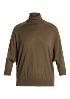 Brunello Cucinelli Roll-neck cashmere-blend sweater