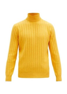 Brunello Cucinelli Roll-neck rib-knitted wool-blend sweater