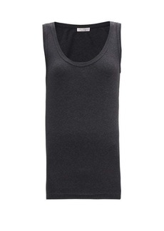 Brunello Cucinelli Scoop-neck cotton-blend jersey tank top