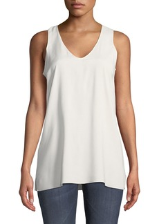 Brunello Cucinelli Scoop-Neck Silk Cami
