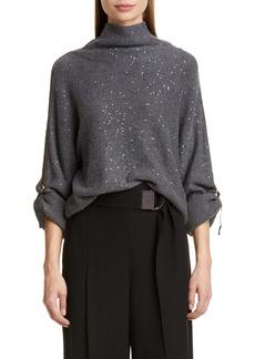 Brunello Cucinelli Sequin Cashmere & Silk Sweater