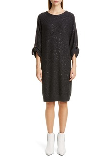 Brunello Cucinelli Sequin Cashmere & Silk Sweater Dress