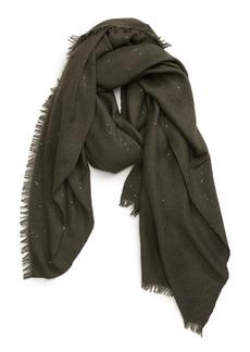 Brunello Cucinelli Sequin Embellished Cashmere & Silk Scarf