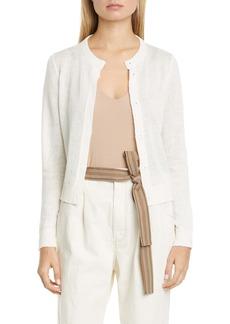 Brunello Cucinelli Sequin Linen & Silk Cardigan