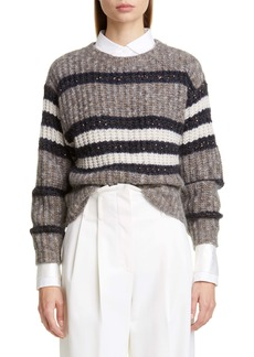 Brunello Cucinelli Sequin Stripe Sweater (Nordstrom Exclusive Color)
