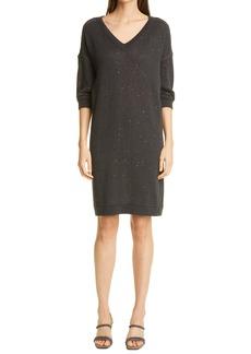 Brunello Cucinelli Sequin Sweater Dress