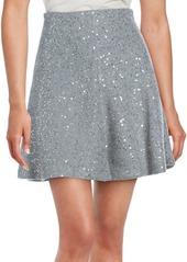 Brunello Cucinelli Sequined Cashmere & Silk Skirt