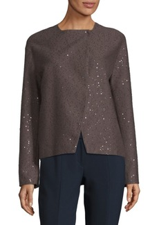 Brunello Cucinelli Sequined Long-Sleeve Cardigan