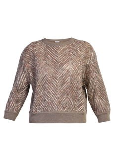 Brunello Cucinelli Sequinned Sweater
