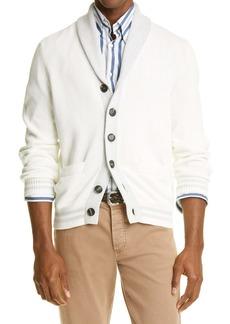 Brunello Cucinelli Shawl Collar Cotton Cardigan