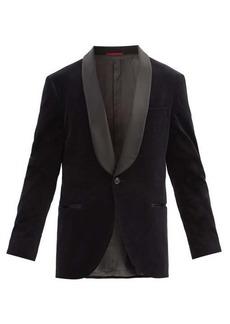 Brunello Cucinelli Shawl-lapel cotton-velvet dinner jacket
