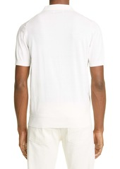 Brunello Cucinelli Short Sleeve Cotton Jersey Polo Shirt