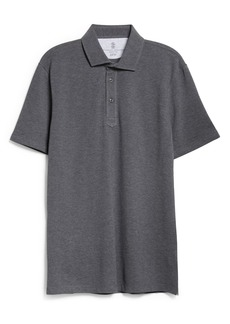 Brunello Cucinelli Short Sleeve Cotton Piqué Polo