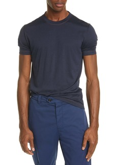 Brunello Cucinelli Silk & Cotton Crewneck T-Shirt