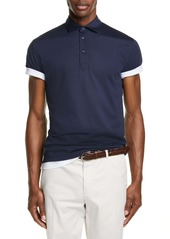 Brunello Cucinelli Silk & Cotton Polo Shirt