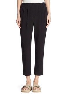 Brunello Cucinelli Silk-Blend Cropped Pants