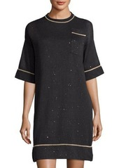 Brunello Cucinelli Silk-Blend Diamond Pocket Dress