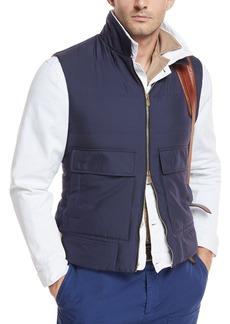 Brunello Cucinelli Silk Zip-Front Vest