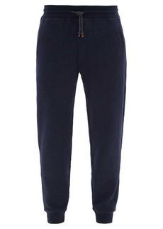 Brunello Cucinelli Slim-fit cotton-blend jersey track pants