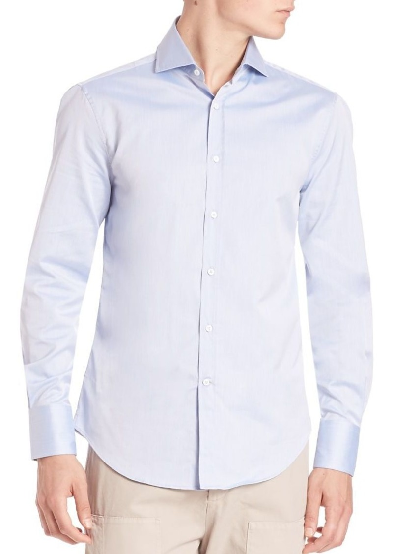 Brunello Cucinelli Slim-Fit Cotton Button-Down Shirt
