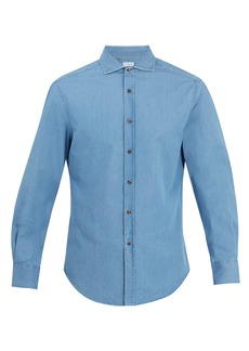 Brunello Cucinelli Slim-fit cotton-denim shirt