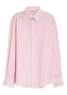 Brunello Cucinelli Slim Fit Linen Button-Down Shirt