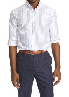 Brunello Cucinelli Slim Fit Pinstripe Button-Down Shirt