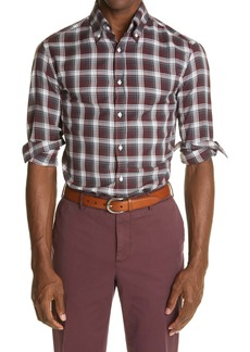 Brunello Cucinelli Slim Fit Plaid Button-Down Shirt