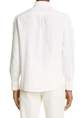 Brunello Cucinelli Slim Fit Stripe Button-Down Shirt