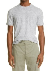 Brunello Cucinelli Slim Fit Stripe Linen T-Shirt