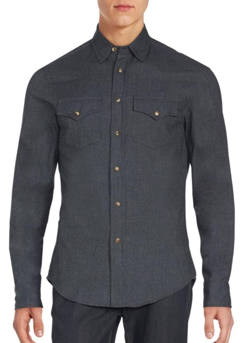 Brunello Cucinelli Slim-Fit Western Flannel Sportshirt