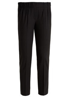 Brunello Cucinelli Slim-leg wool-blend cropped trousers