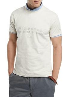 Brunello Cucinelli Socrates Quote Graphic T-Shirt