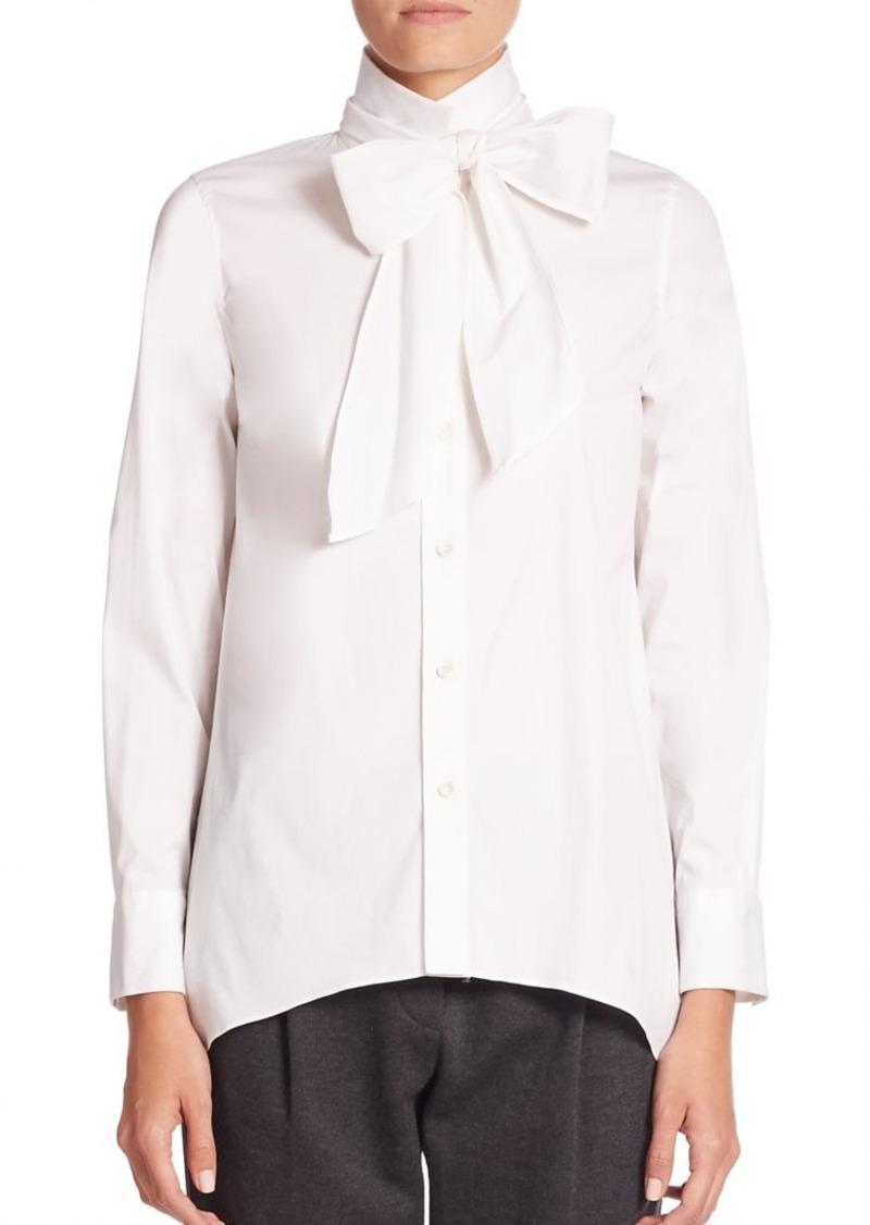 Brunello Cucinelli Solid Long Sleeve Shirt