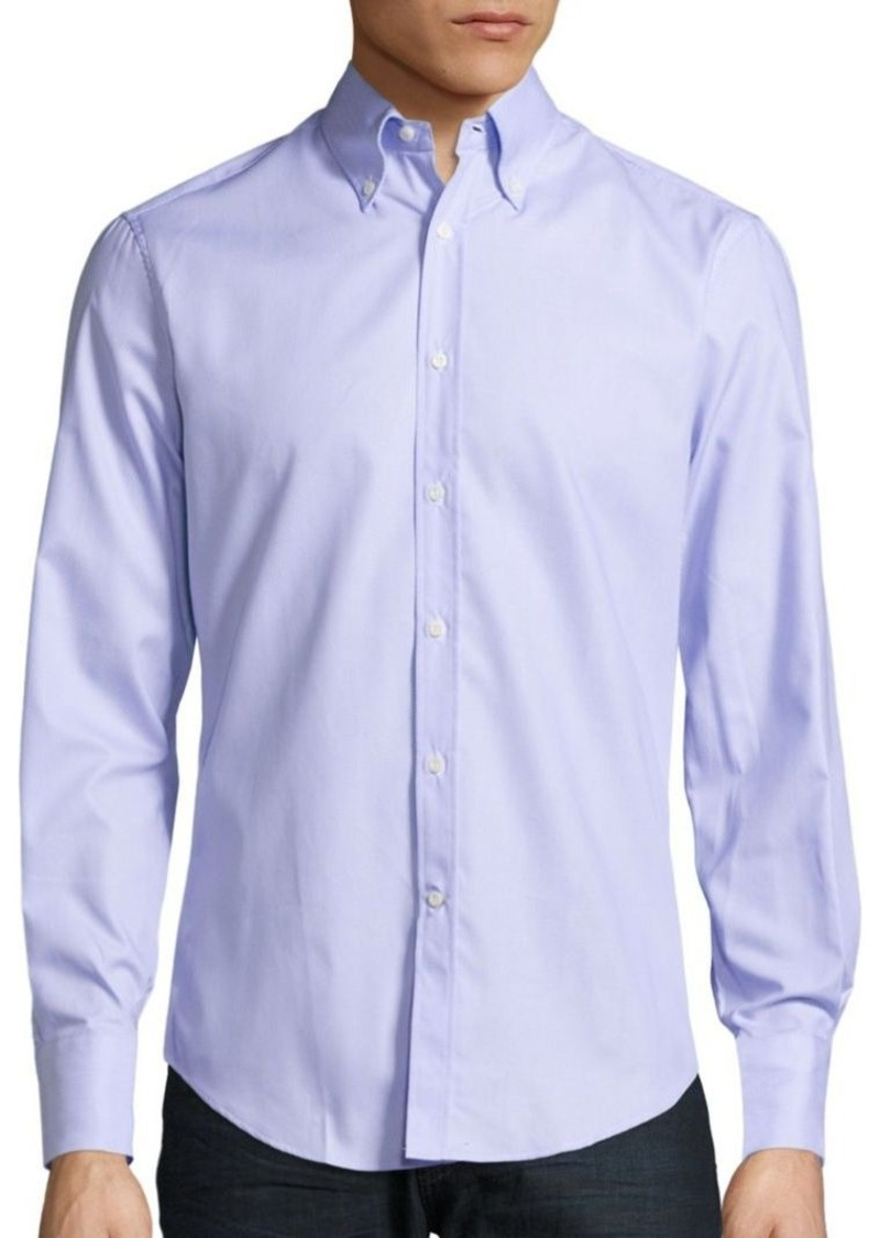 Brunello Cucinelli Solid Long-Sleeve Shirt