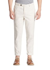 Brunello Cucinelli Solid Straight-Leg Pants