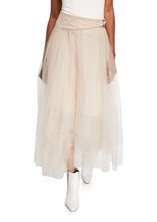 Brunello Cucinelli Solid Tulle Skirt
