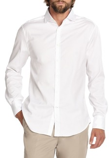 Brunello Cucinelli Solid White Button-Down Shirt