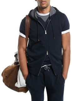 Brunello Cucinelli Spa Double-Sided Sleeveless Hoodie