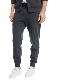 Brunello Cucinelli Spa Jogger Sweatpants with Front Crease