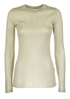 Brunello Cucinelli Sparkling Mohair Ribbed Sweater