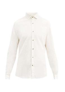 Brunello Cucinelli Spread collar cotton shirt