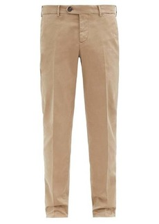 Brunello Cucinelli Straight-leg cotton-blend twill chino trousers