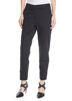 Brunello Cucinelli Straight-Leg Wool Ankle Pants