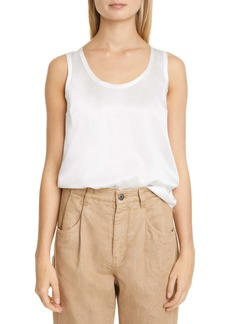 Brunello Cucinelli Stretch Silk Tank