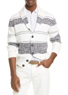 Brunello Cucinelli Stripe Cotton Cardigan