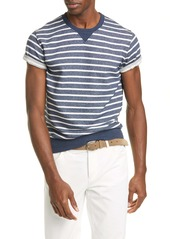 Brunello Cucinelli Stripe Cotton Crewneck T-Shirt
