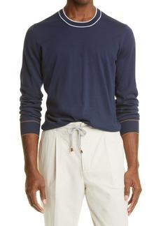 Brunello Cucinelli Stripe Cotton Sweater