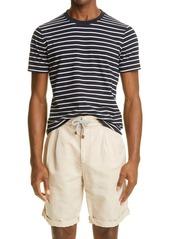 Brunello Cucinelli Stripe Slim Fit Cotton T-Shirt